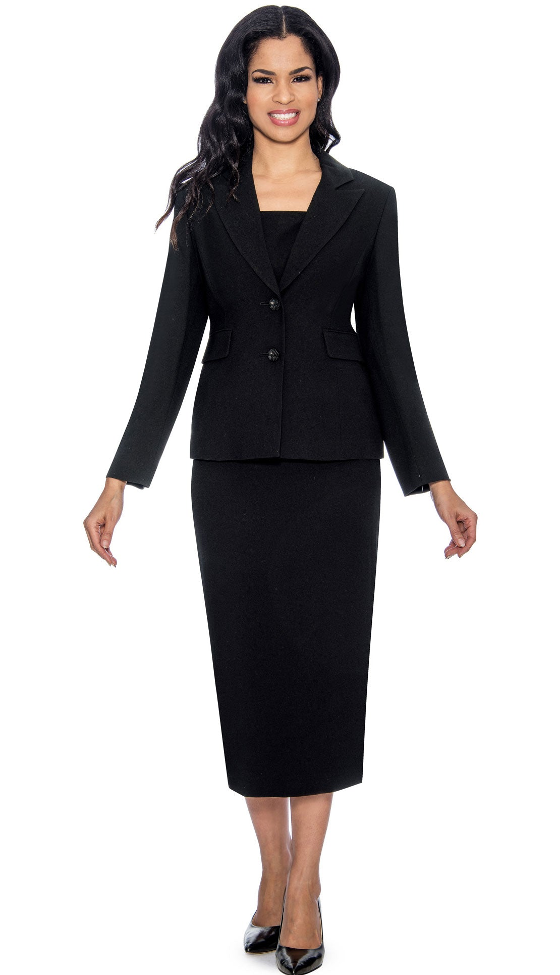 Giovanna Usher Suit S0710-Black - Church Suits For Less