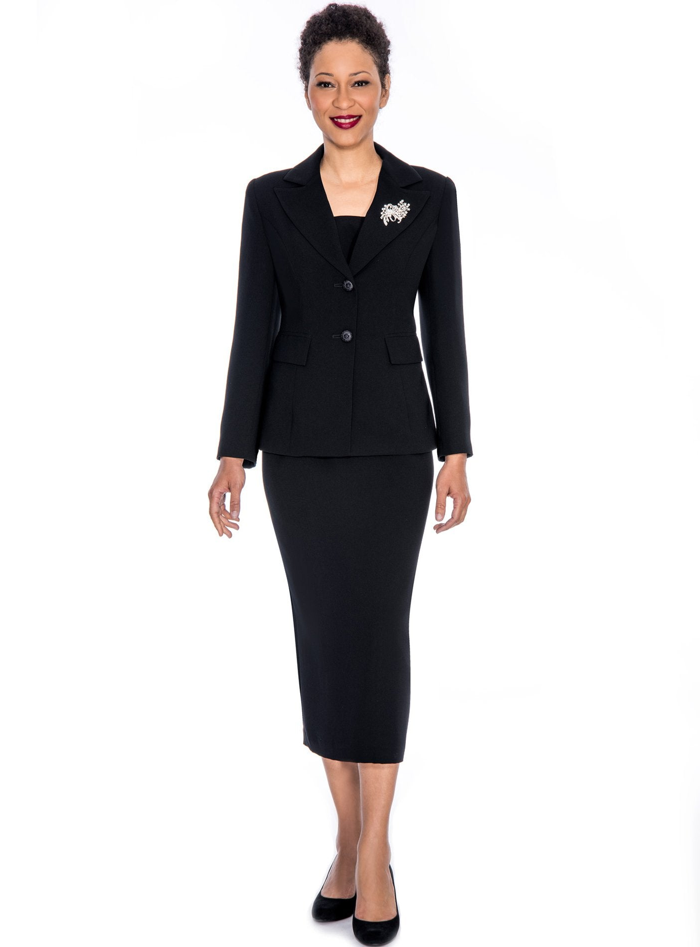 Giovanna Usher Suit 0710-Black - Church Suits For Less