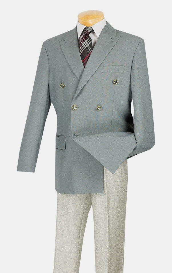 Vince Men Blazer Z-DPP-Grey - Church Suits For Less