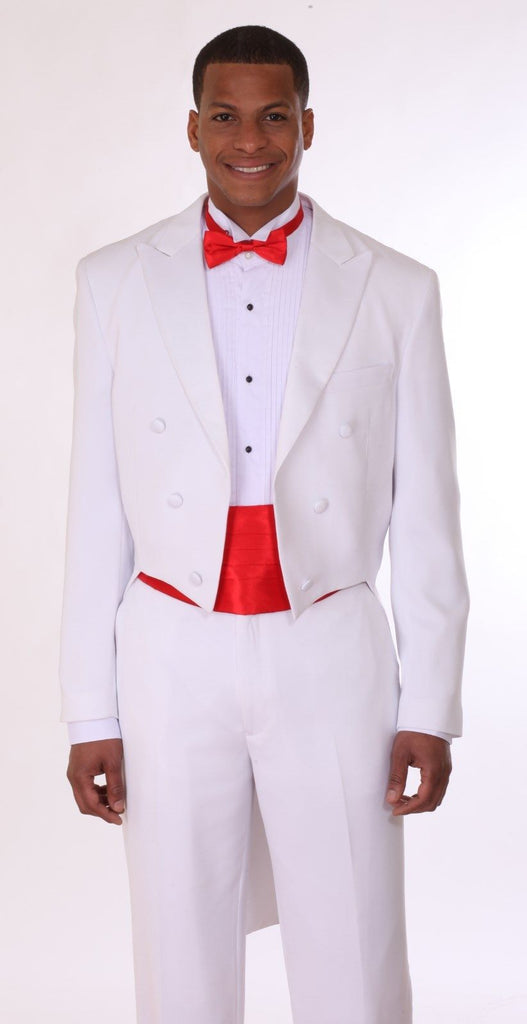 Men Tuxedo T505-White - Church Suits For Less