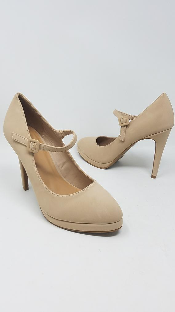 Women Church Shoes-FAVEC-Nude - Church Suits For Less