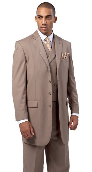 Milano Moda Men Suit 5263-Tan - Church Suits For Less