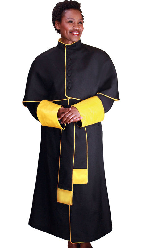 Papal Robe RR9002-Black/Gold - Church Suits For Less