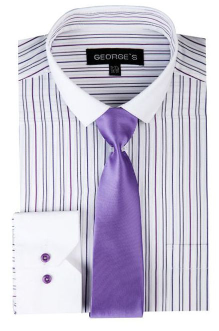 SG-41-White/lavender - Church Suits For Less