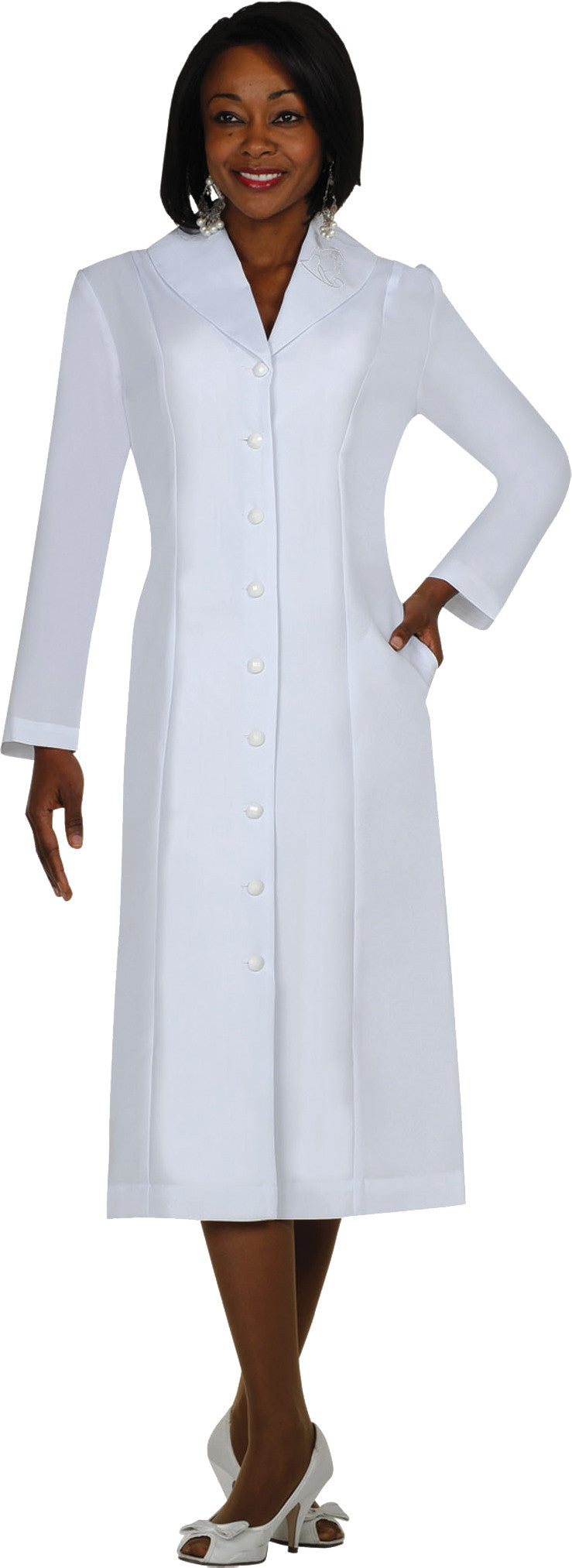 GMI Usher Suit-11674-White - Church Suits For Less