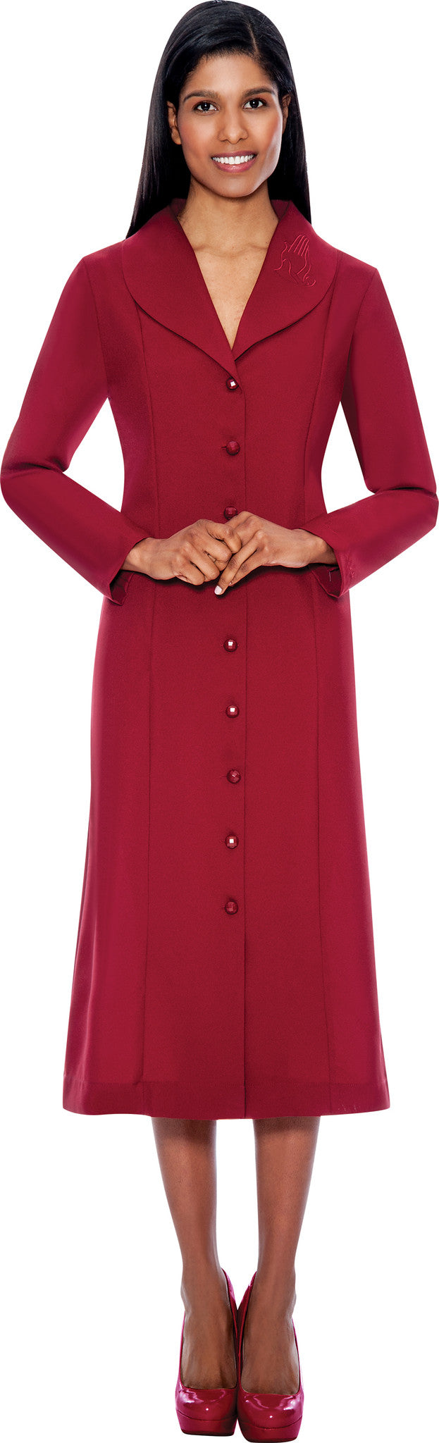 Usher Suit-11674-Burgundy - Church Suits For Less