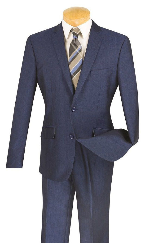 Vinci Men Suit S2RK-7-Blue - Church Suits For Less
