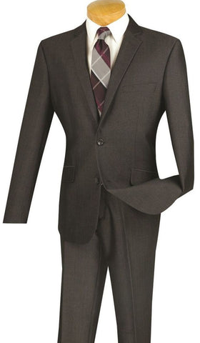 Vinci Men Suit S2RK-7-Smoke - Church Suits For Less