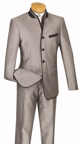 Vinci Men Suit S4HT-1-Grey