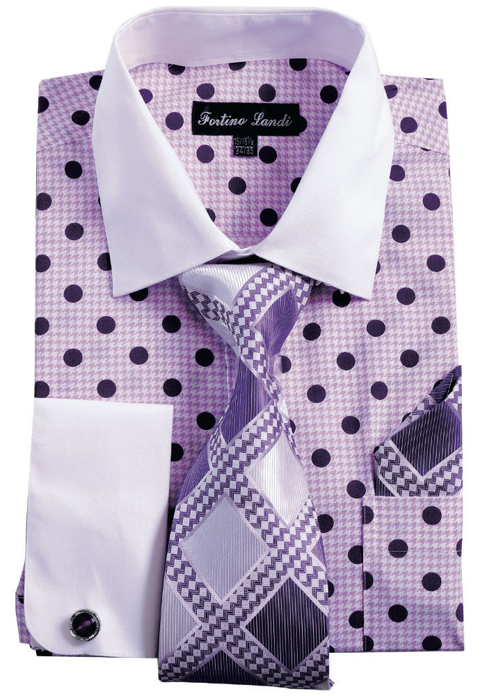 Men Shirt FL632-Purple - Church Suits For Less