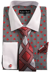 Men Shirt FL632-Red - Church Suits For Less