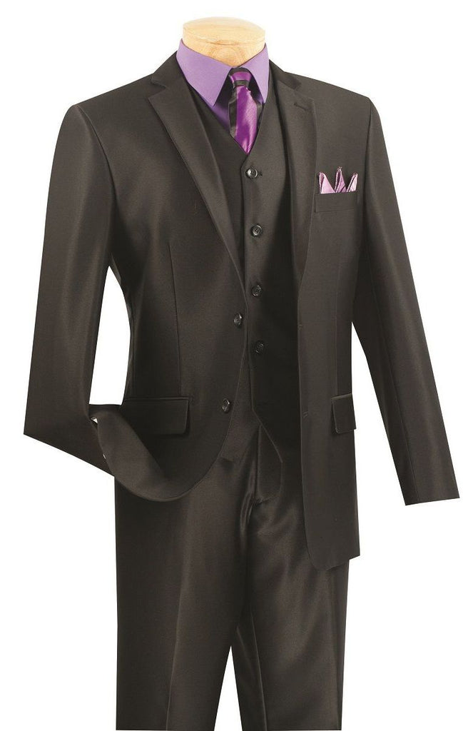 Vinci Men Suit SV2R-2-Black - Church Suits For Less