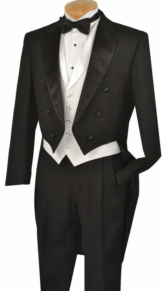 Vinci Men Tuxedo T-2X-Black - Church Suits For Less