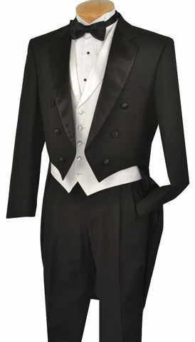 Vinci Men Tuxedo T-2XC-Black - Church Suits For Less