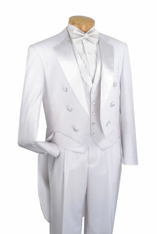Vinci Men Tuxedo T-2X-White - Church Suits For Less