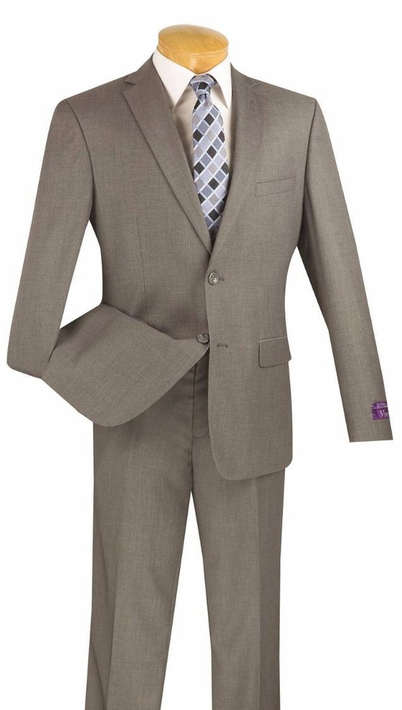 Vinci Men Suit US900-1-Grey - Church Suits For Less