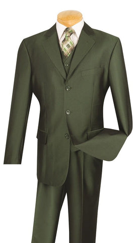 Vinci Men Suit V3RR-4C-Olive