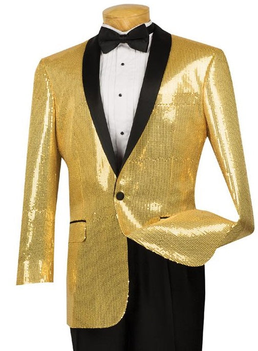Vinci Men Jacket BSQ-1-Gold - Church Suits For Less