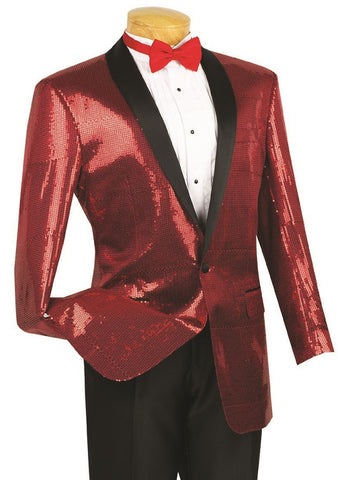 Vinci Men Suit BSQ-1-Red