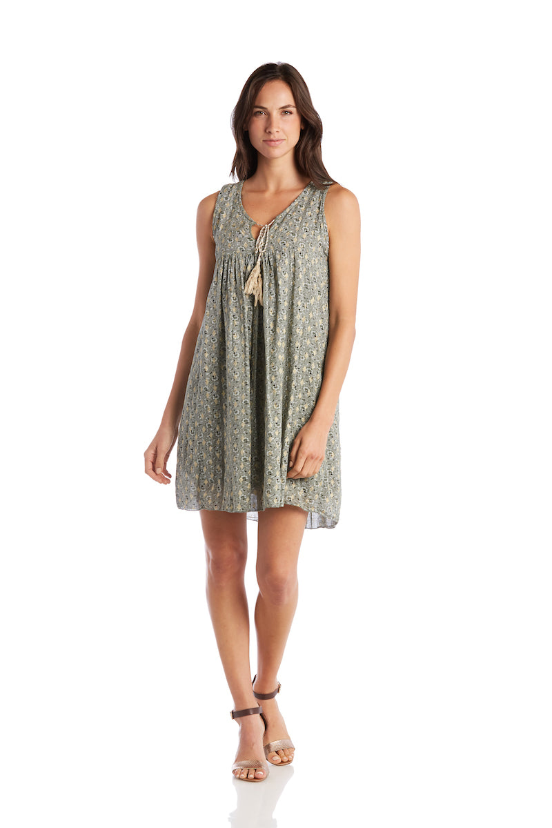 Diamond Printed Tank Dress