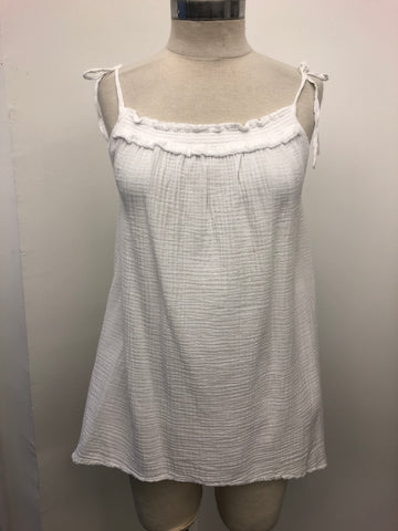 Double Gauze Tie Strap Top
