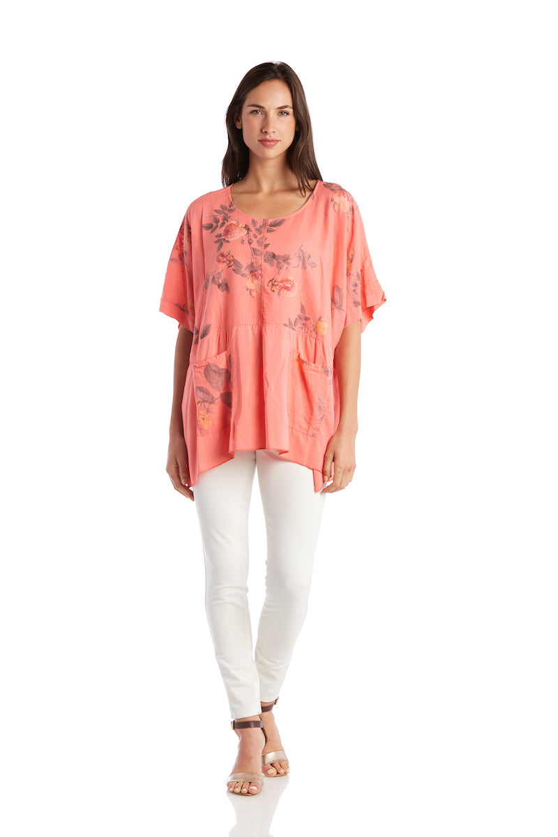 Floral Pocketed Tunic
