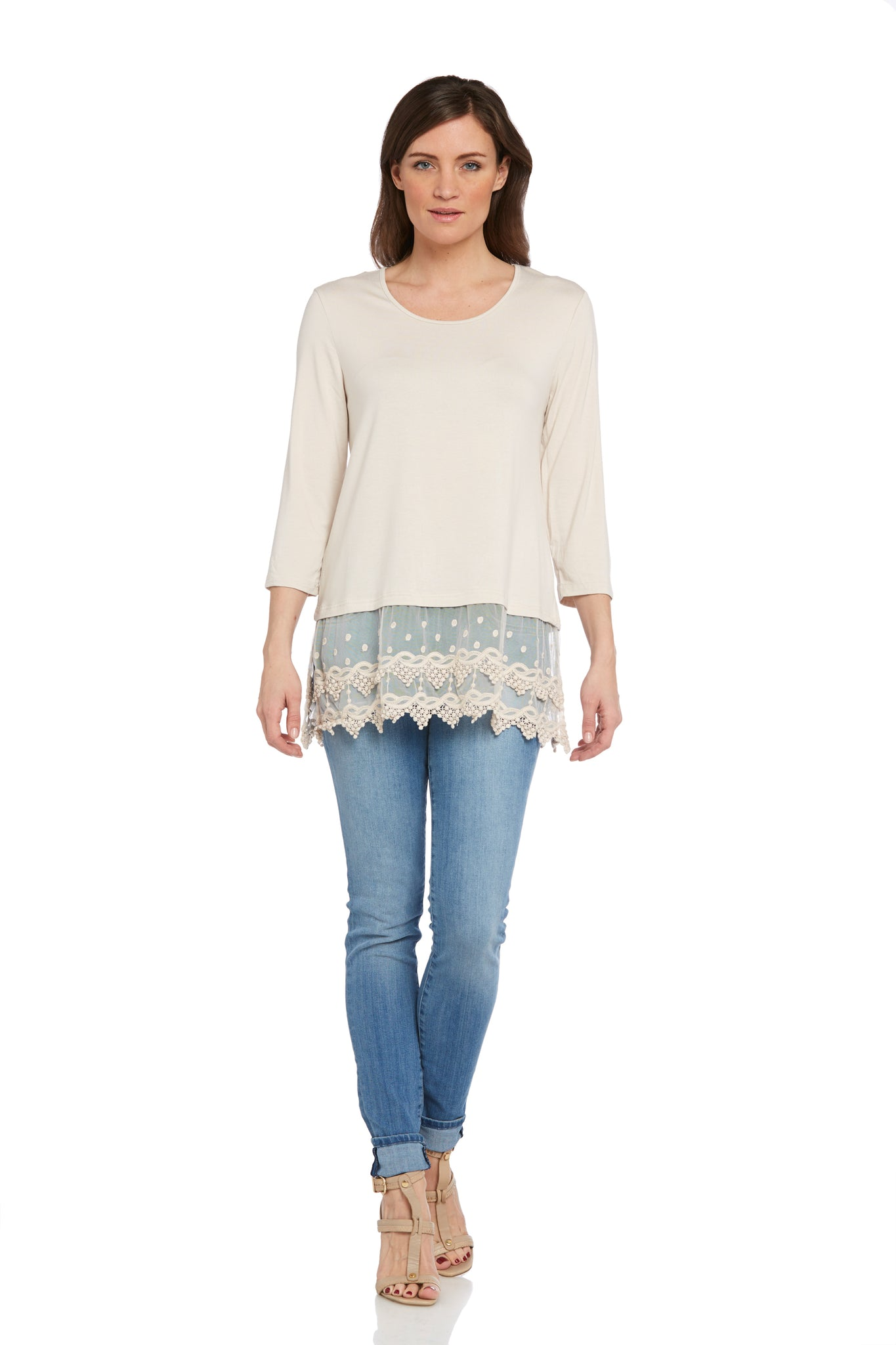 3/4 Sleeve Knit Tunic