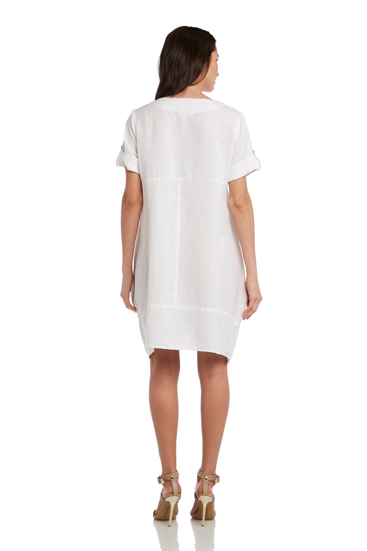Pocketed Linen Dress