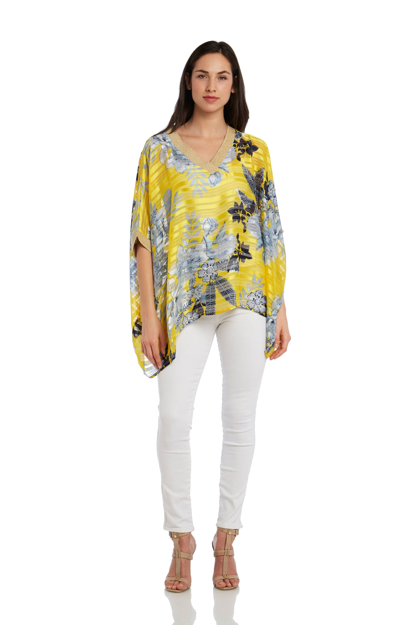 Printed Woven Poncho Top