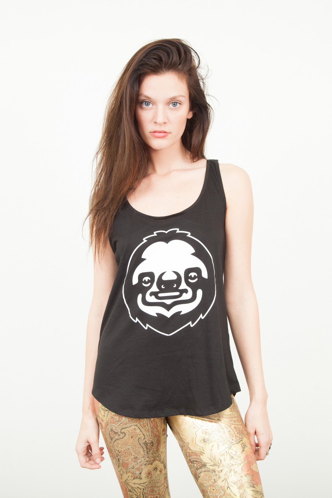 Women's PMO Logo Tank Black/White