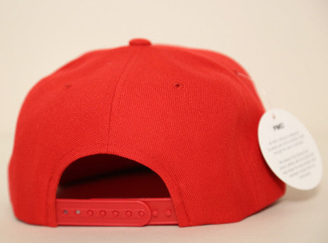 PMO Snapback Logo Red/White
