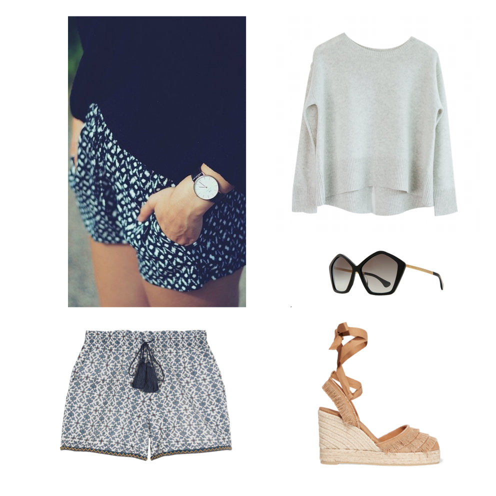 Cashmere Sweater x Shorts outfit inspo