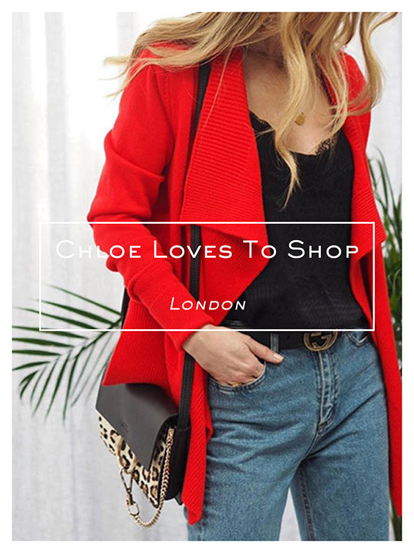Chloe Loves To Shop wearing the Rib Detail Cardigan by Ille De Cocos