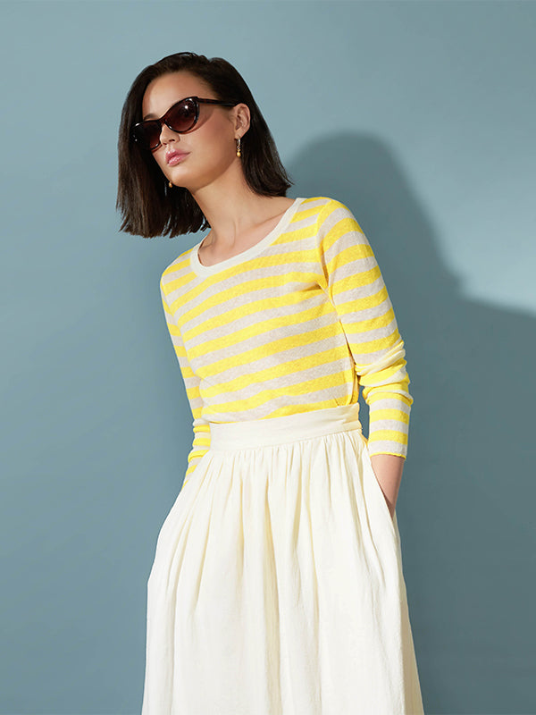Ille De Cocos Line Stripe Sweater