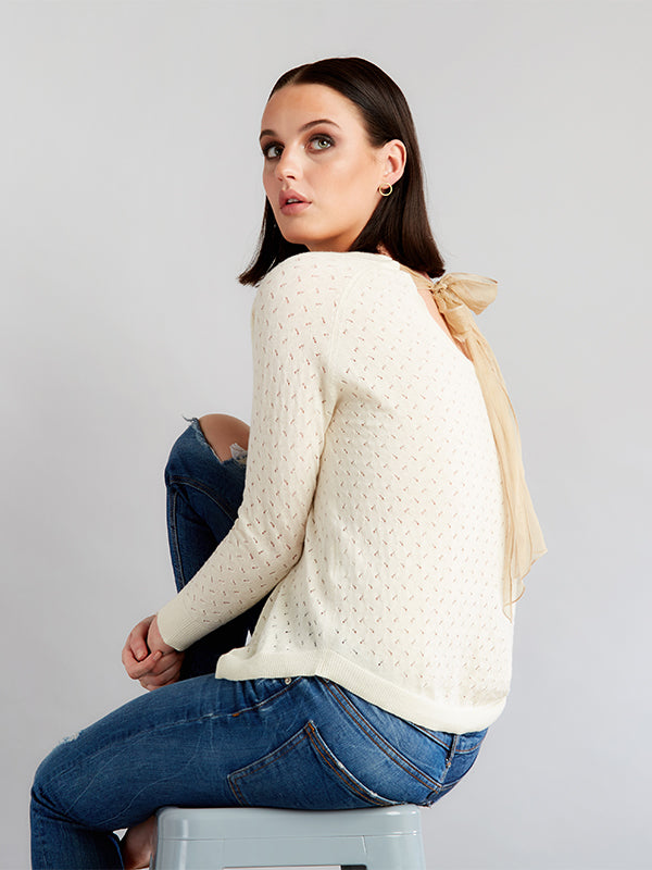Ille De Cocos Fantasy Bow Sweater