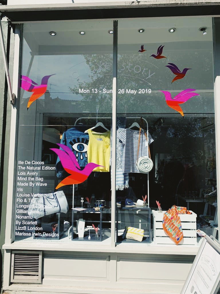 A Luxe Story Pop Up Shop, Hampstead May 2019