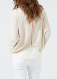 Merino Cropped Sweater - Sand/ Coral