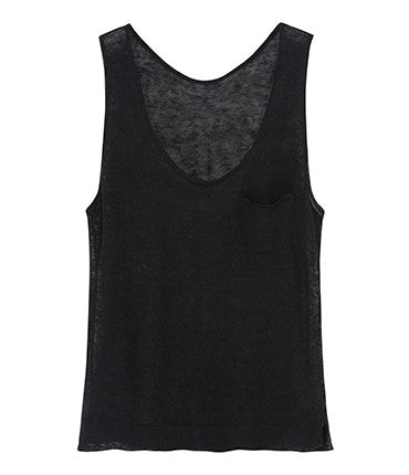 NEW: Linen Gauze Vest - Black