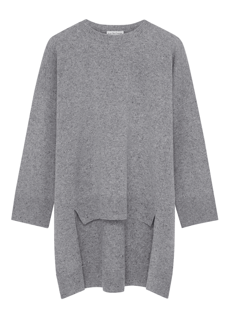 Merino Cape Sweater - Storm Grey