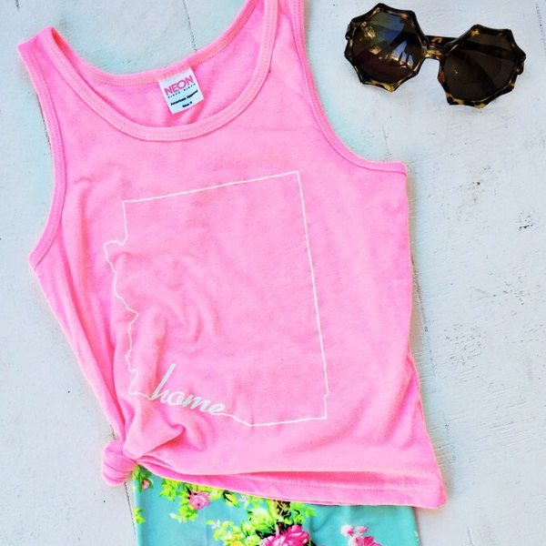 KIDS TANK | ARIZONA NEON PINK
