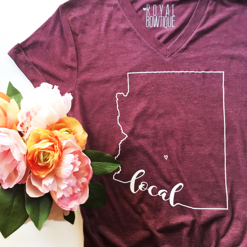 Arizona Local Boyfriend Fit Tee - Maroon