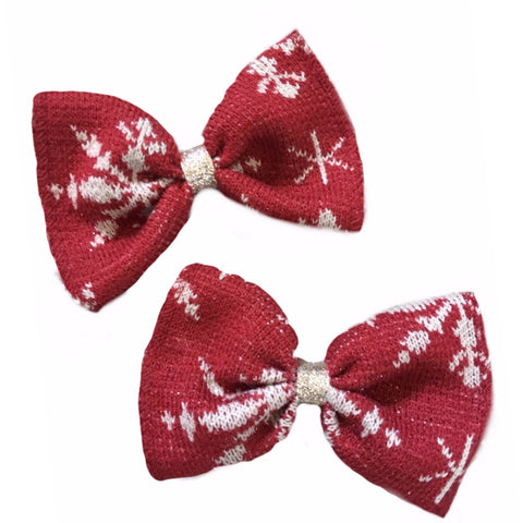 Vintage Christmas Sweater Bow