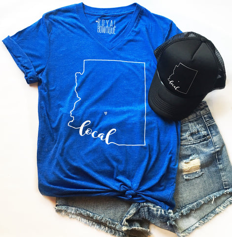 Arizona Local Boyfriend Fit Tee - Cobalt Blue