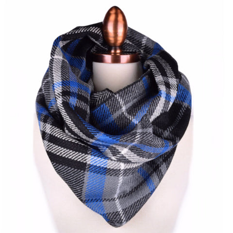 Plaid Infinity | Cobalt Blue