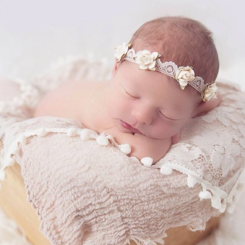 Lace Cream Flower Crown