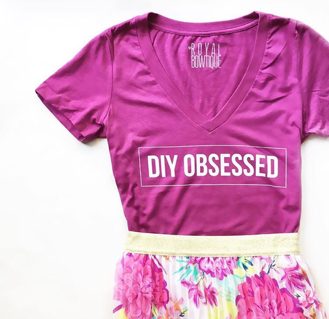DIY OBSSESED V Neck Tee