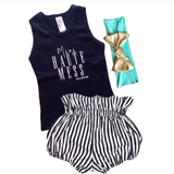 KIDS TANK | BLACK MINI HAUTE MESS
