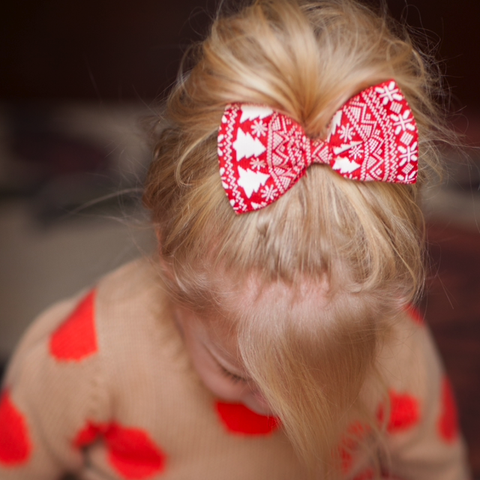 Red Sweater bow