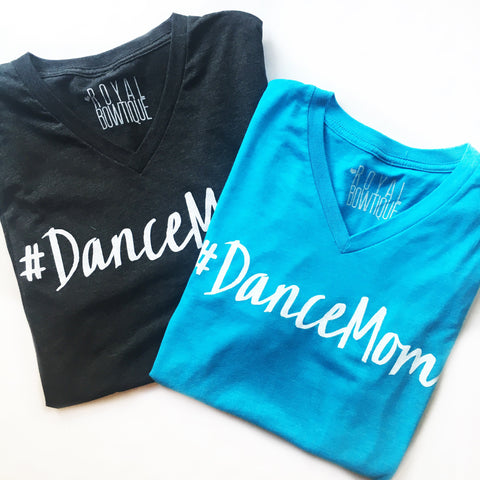 #DanceMom Blue Vintage Boyfriend Fit Tee