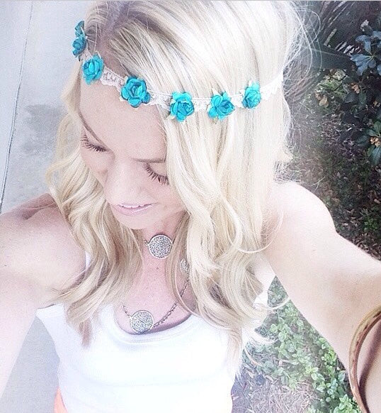 Lace Mint Flower Crown